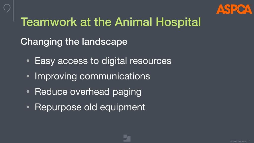 © JAMF Software, LLC Teamwork at the Animal Hos...