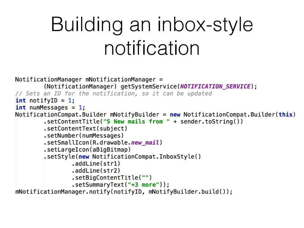 Building an inbox-style notification