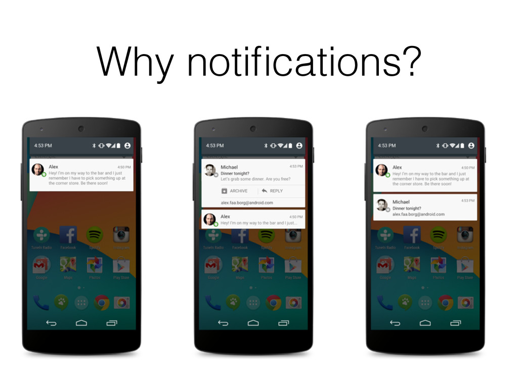 Why notifications?