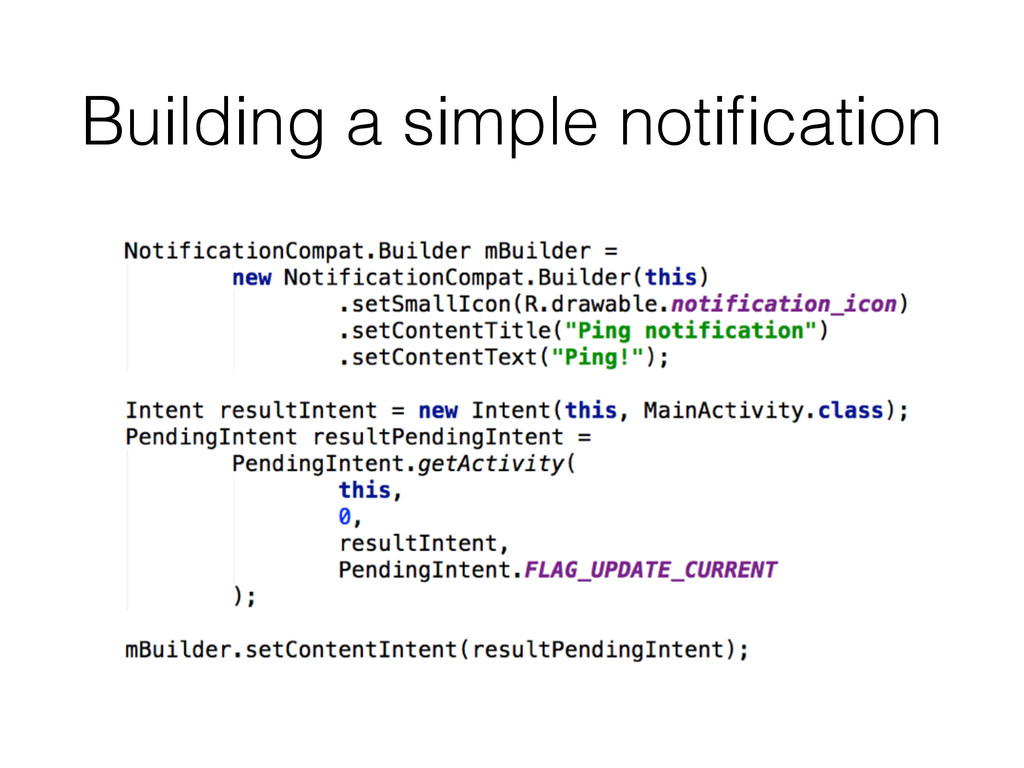 Building a simple notification
