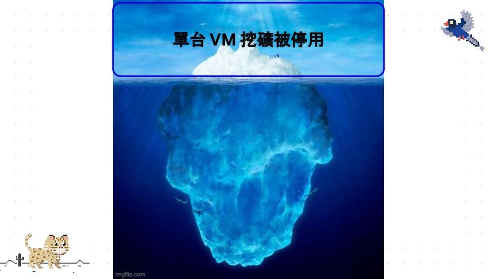 單台 VM 挖礦被停用