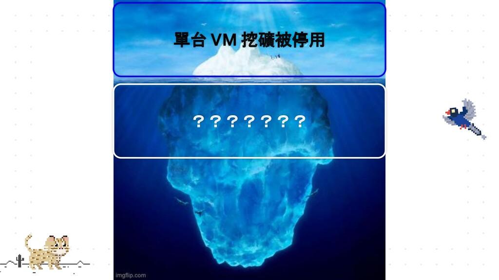 單台 VM 挖礦被停用 ???????