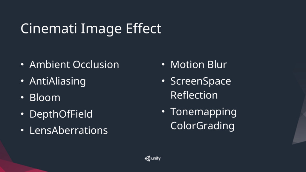 Cinemati Image Effect • Ambient Occlusion • Ant...