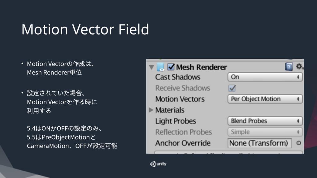 Motion Vector Field • .PUJPO7FDUPSך⡲䧭כծ .FTI...