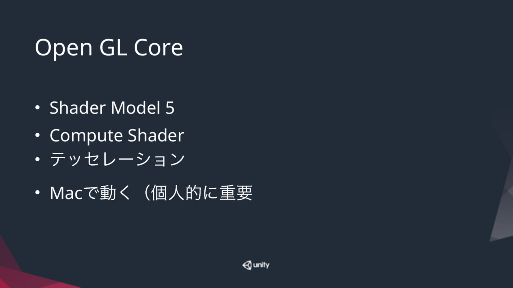 Open GL Core • Shader Model 5 • Compute Shader ...