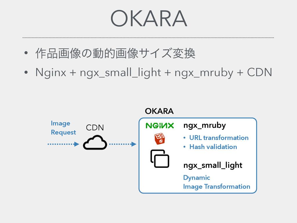 OKARA • ࡞ը૾ͷಈతը૾αΠζม • Nginx + ngx_small_ligh...