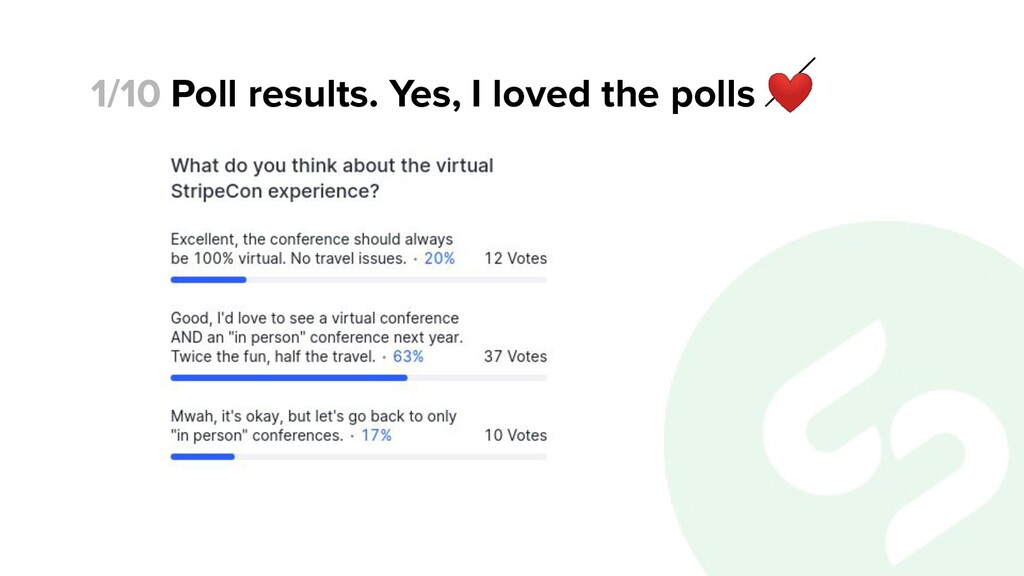 Poll results. Yes, I loved the polls ❤ 1/10