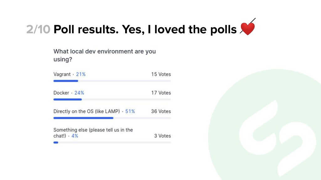 Poll results. Yes, I loved the polls ❤ 2/10