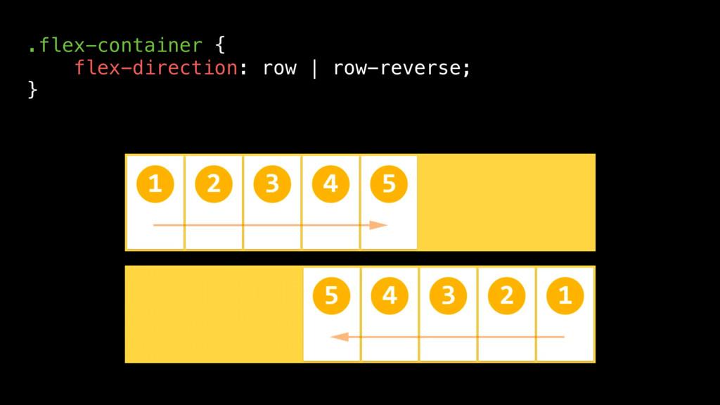 .flex-container { flex-direction: row | row-rev...