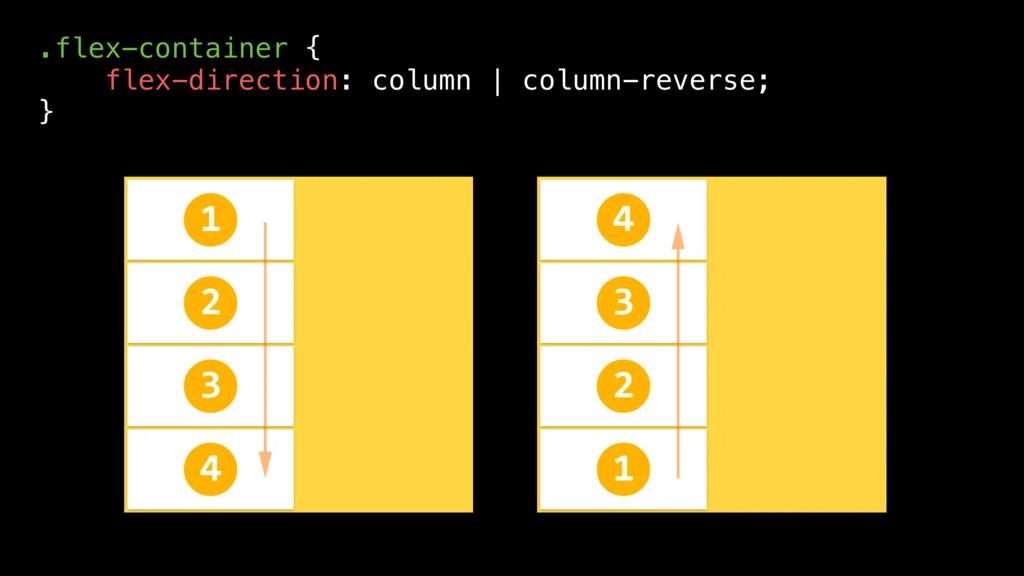 .flex-container { flex-direction: column | colu...