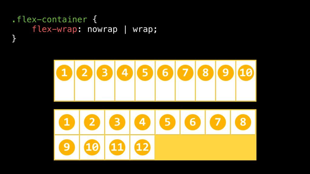 .flex-container { flex-wrap: nowrap | wrap; }