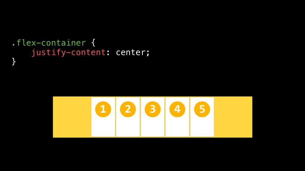 .flex-container { justify-content: center; }