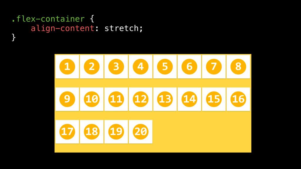 .flex-container { align-content: stretch; }