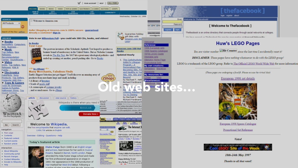 Old web sites…