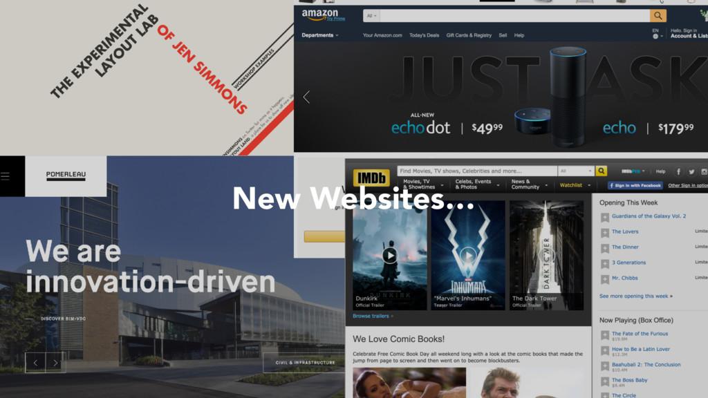 New Websites…