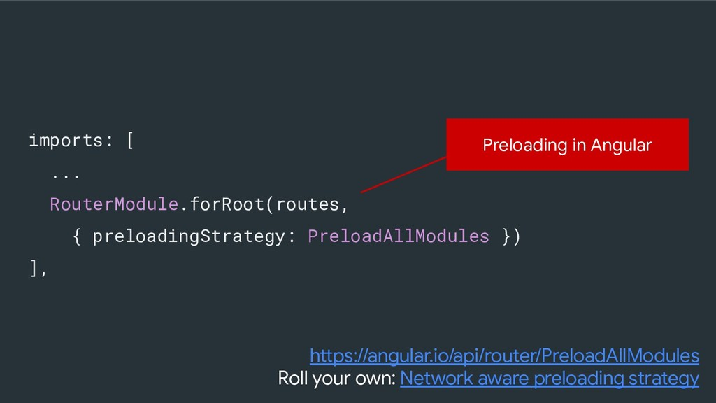 imports: [ ... RouterModule.forRoot(routes, { p...