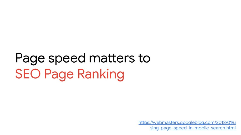 Page speed matters to SEO Page Ranking https://...