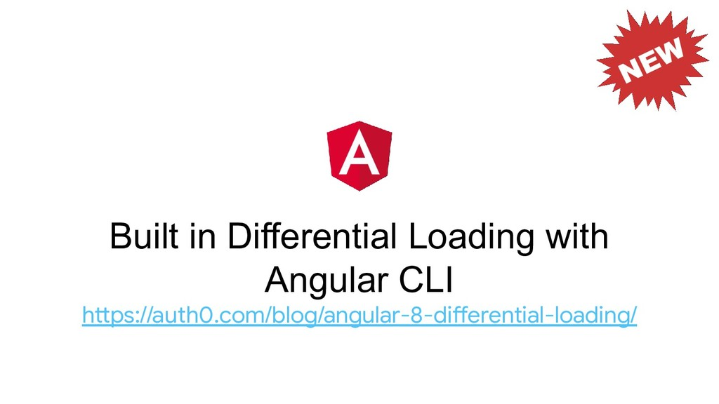 Built in Differential Loading with Angular CLI ...