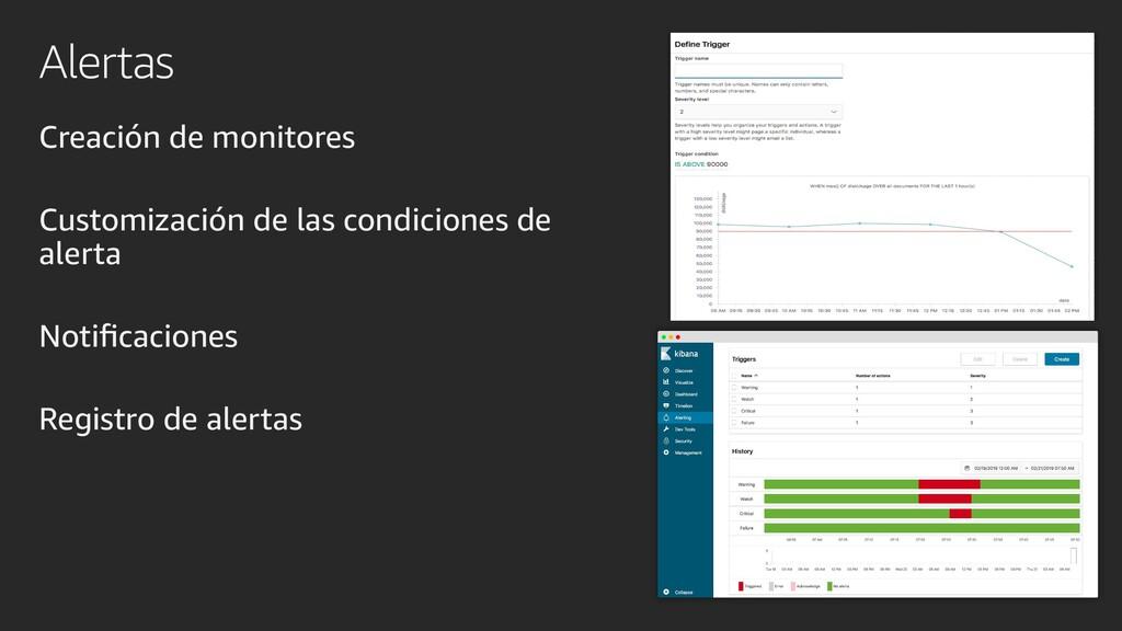 Alertas Creación de monitores Customización de ...
