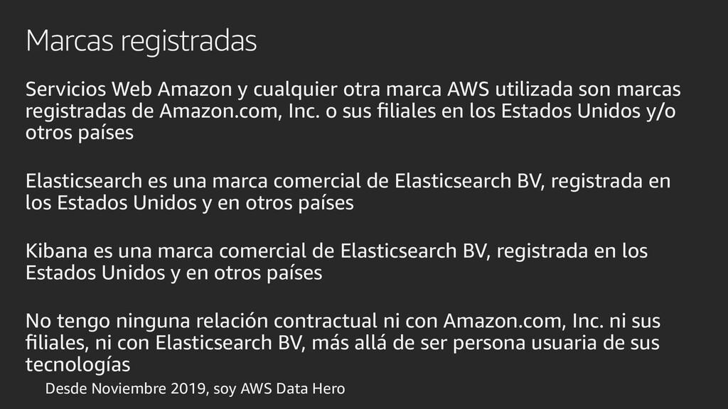 Marcas registradas Servicios Web Amazon y cualq...