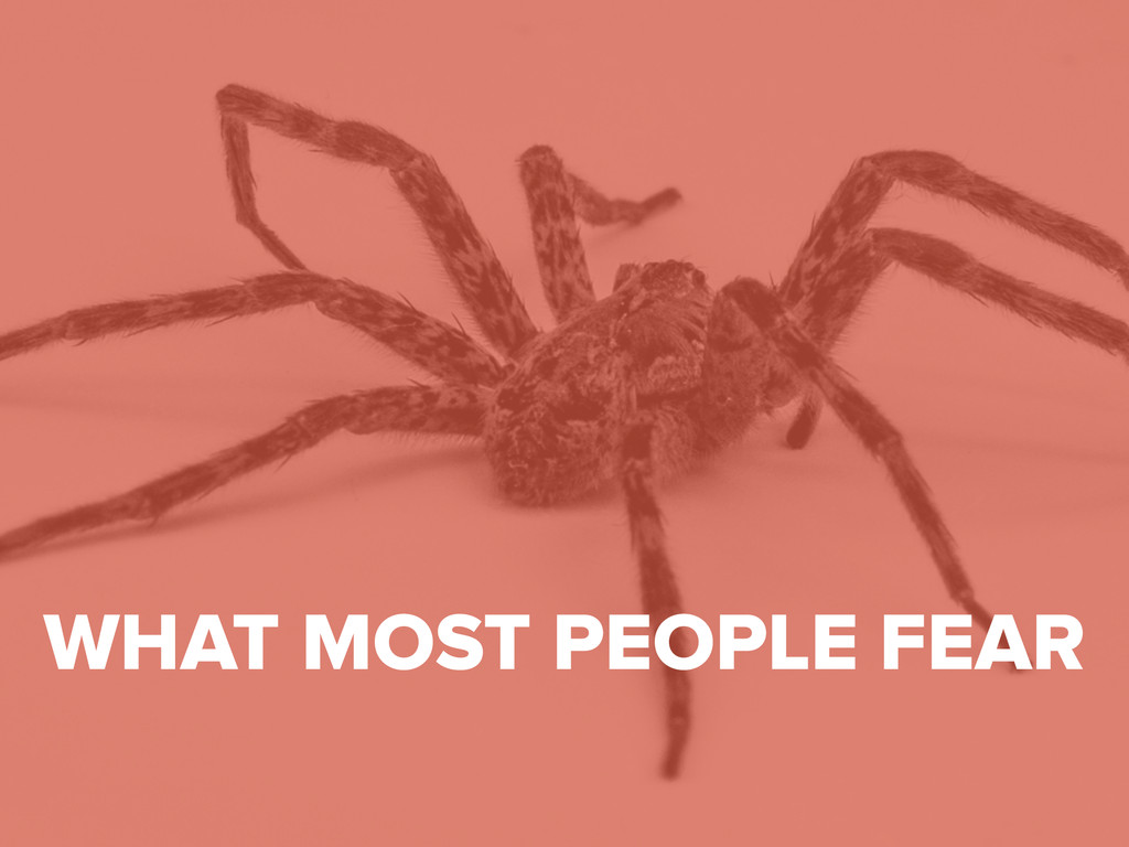 #digitalqasummit WHAT MOST PEOPLE FEAR
