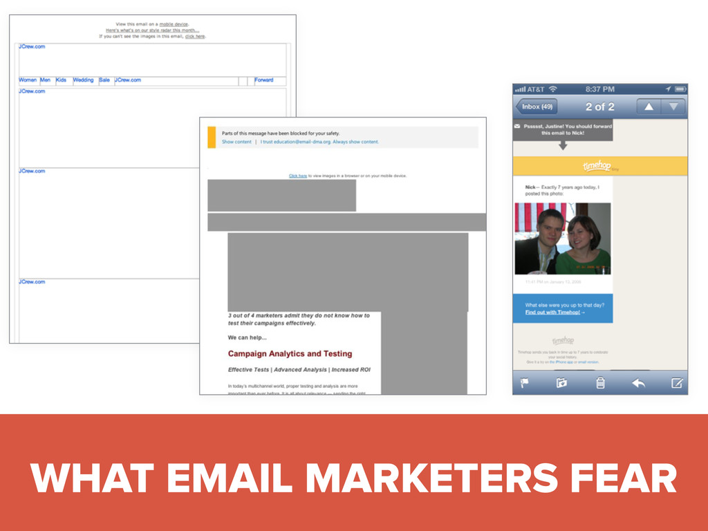 #digitalqasummit WHAT EMAIL MARKETERS FEAR
