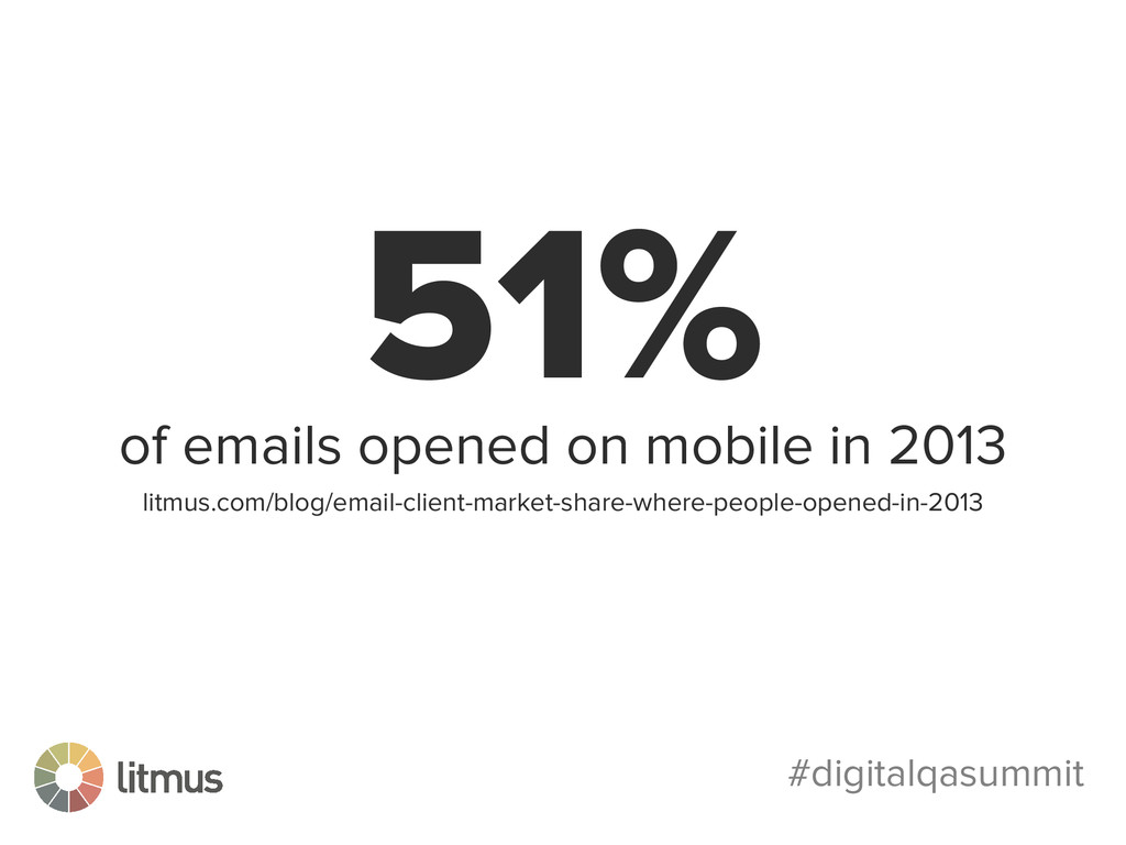 #digitalqasummit 51% of emails opened on mobile...