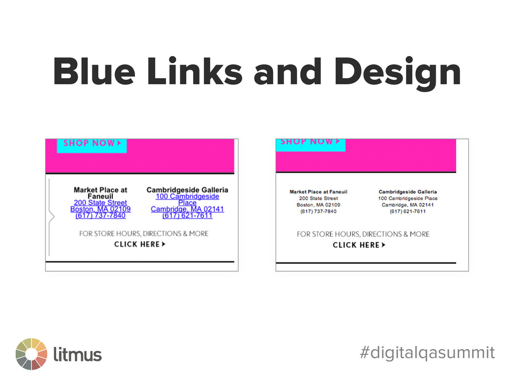 #digitalqasummit Blue Links and Design