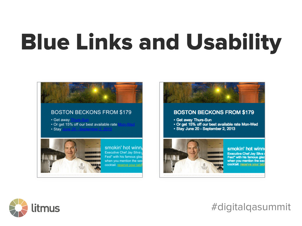 #digitalqasummit Blue Links and Usability