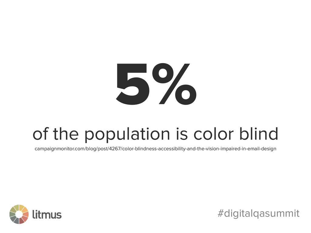 #digitalqasummit 5% of the population is color ...