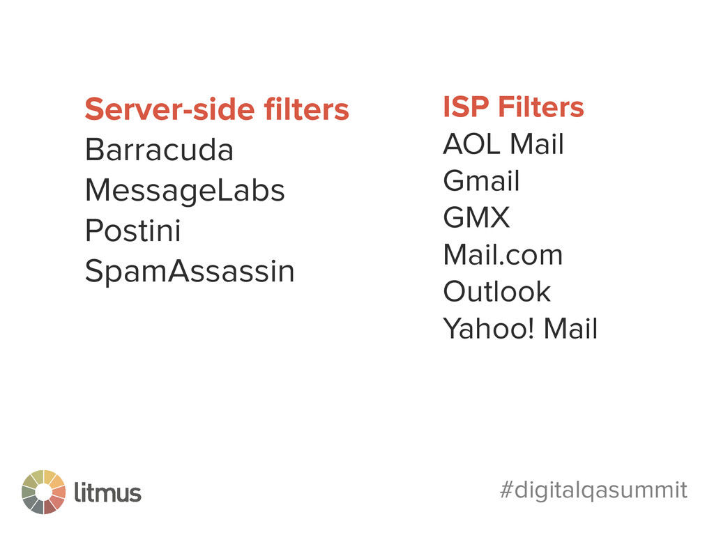 #digitalqasummit Server-side filters Barracuda M...