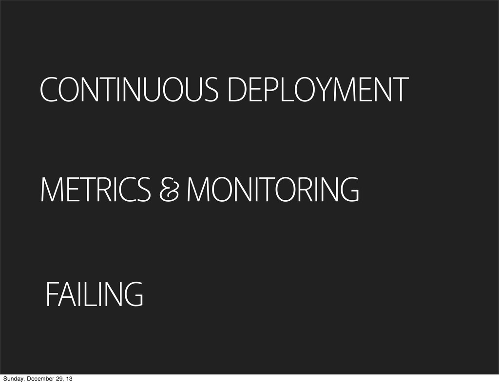 FAILING CONTINUOUS DEPLOYMENT METRICS MONITORIN...