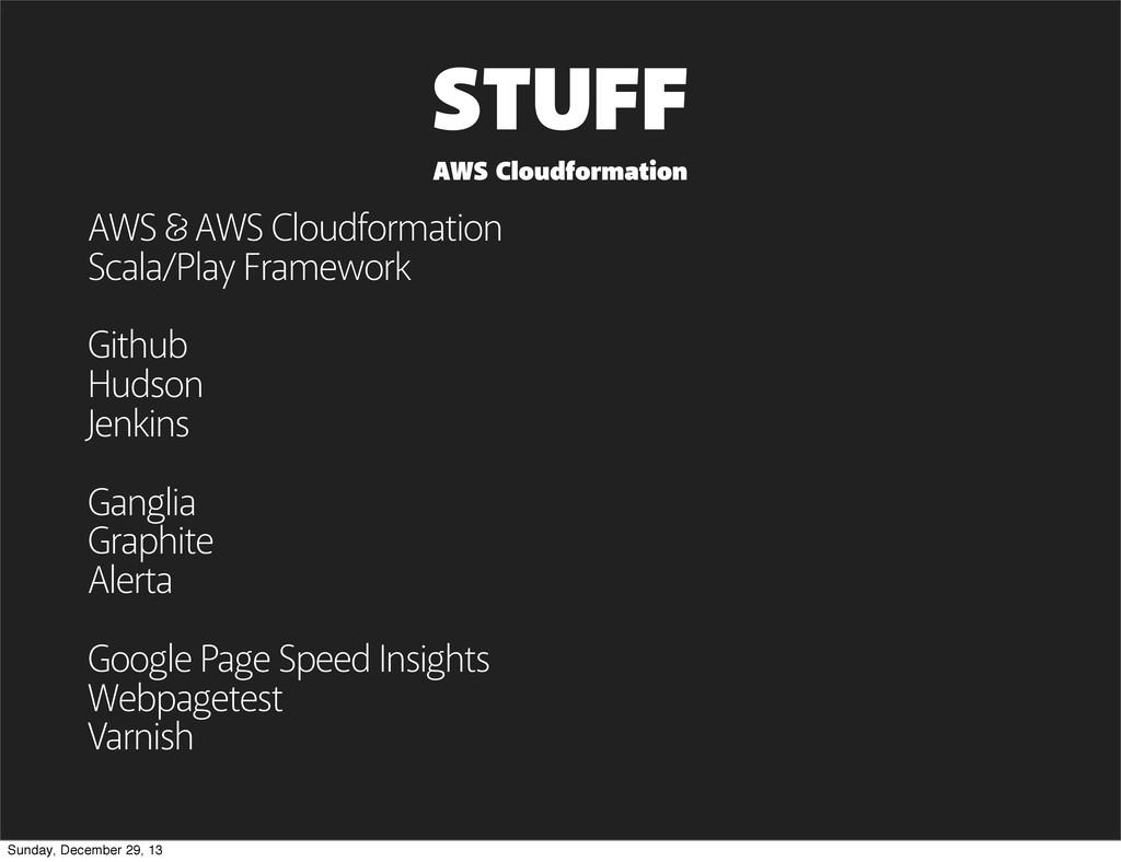 STUFF AWS AWS Cloudformation Scala/Play Framewo...
