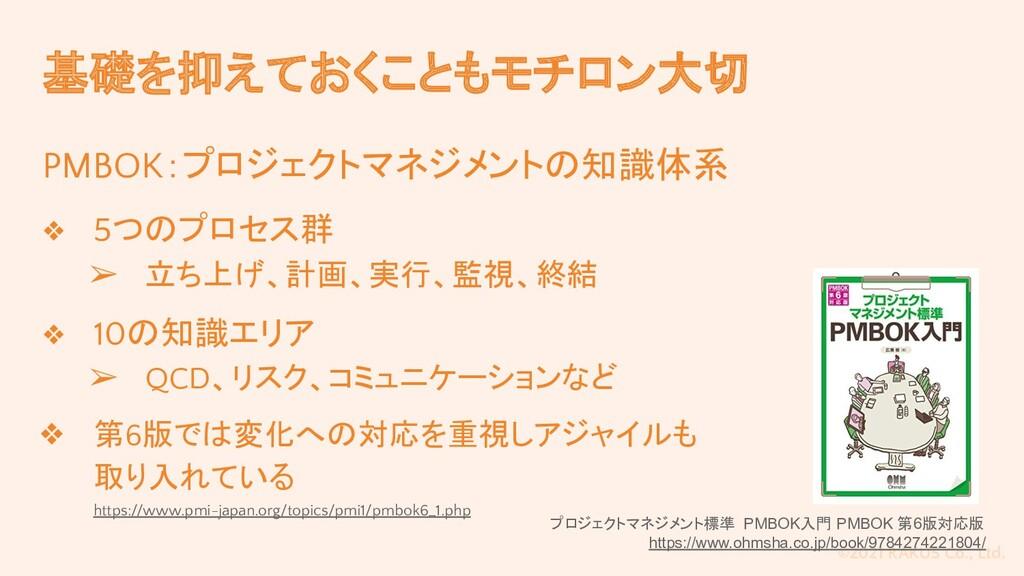 ©2021 RAKUS Co., Ltd. 基礎を抑えておくこともモチロン大切 PMBOK:プ...