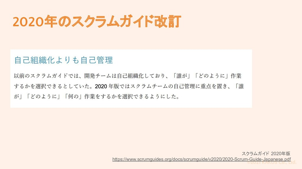 ©2021 RAKUS Co., Ltd. 2020年のスクラムガイド改訂 スクラムガイド 2...