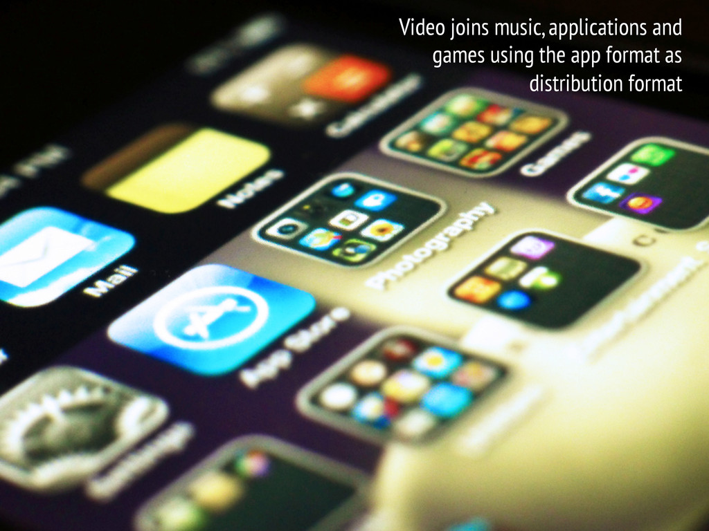 Video joins music, applications and games using...