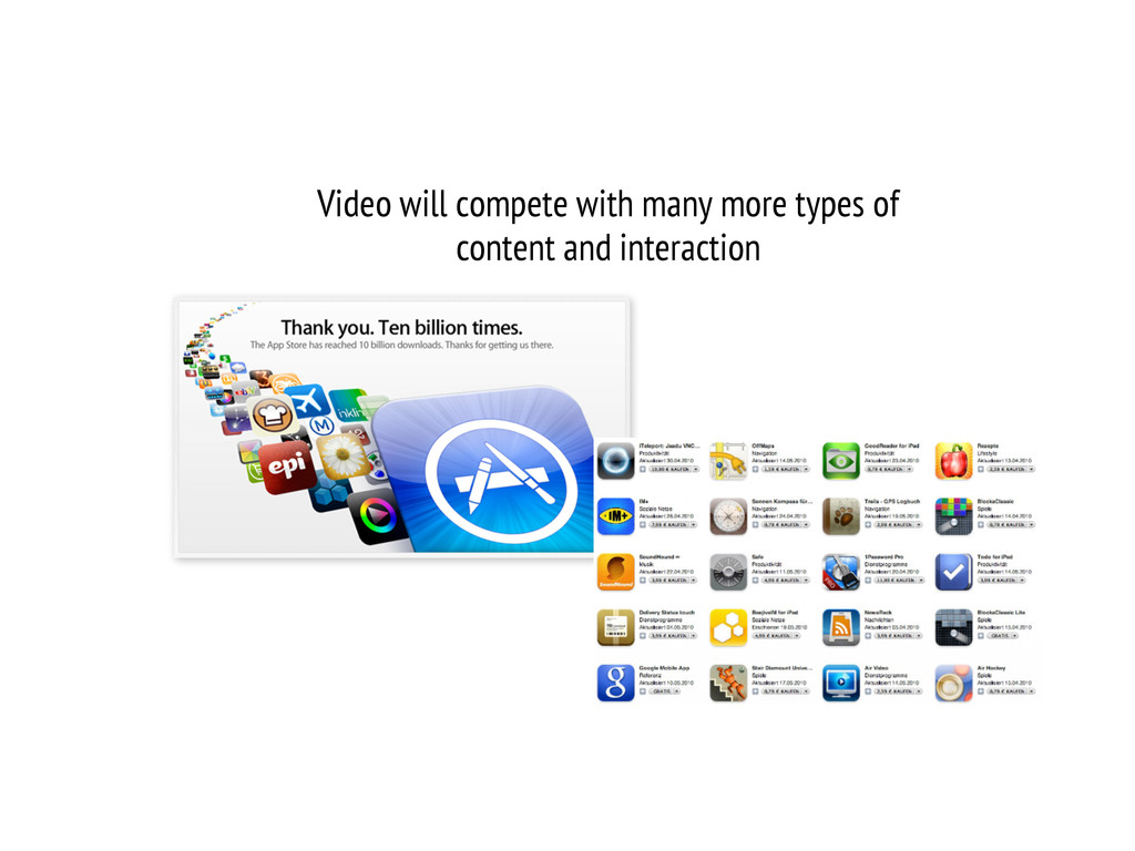 Video will compete with many more types of cont...
