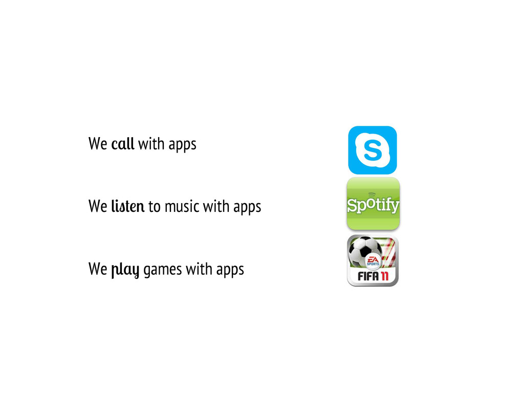 We with apps We to music with apps We games wit...