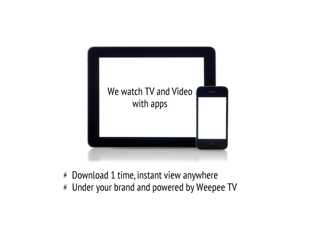 We watch TV and Video with apps !  Download 1 ...