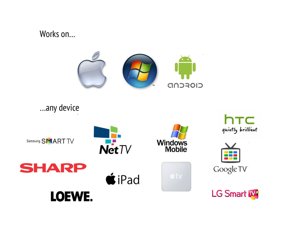 Works on… …any device
