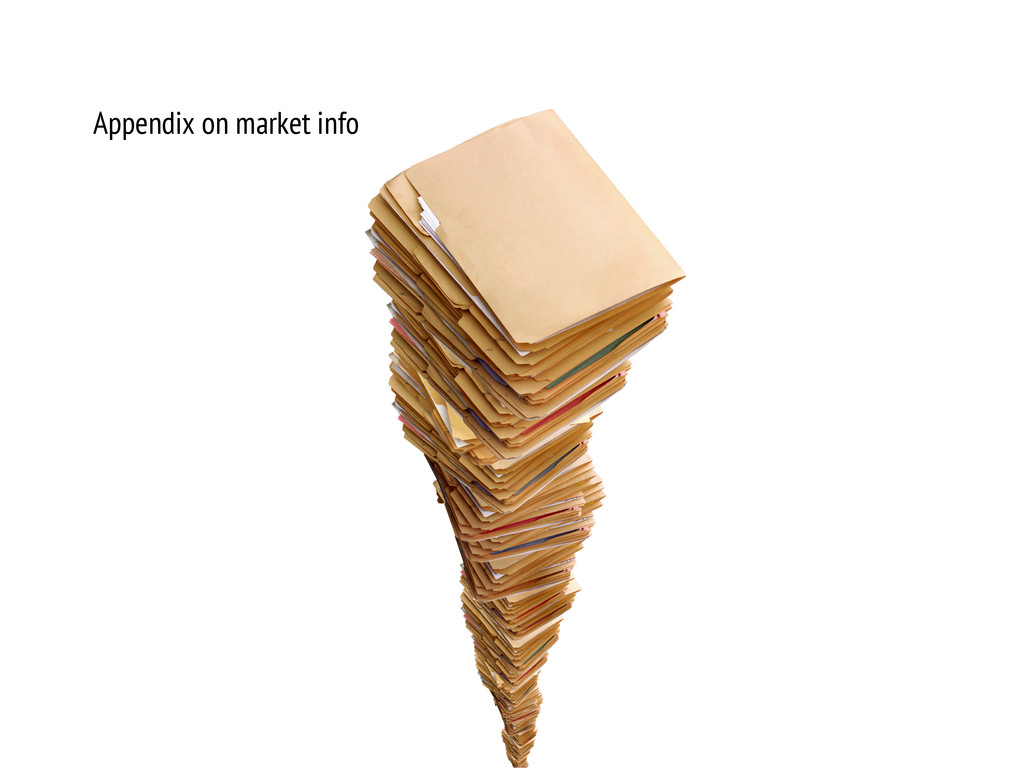 Appendix on market info