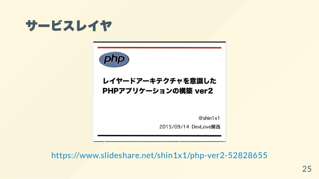 サービスレイヤ https://www.slideshare.net/shin1x1/php-...