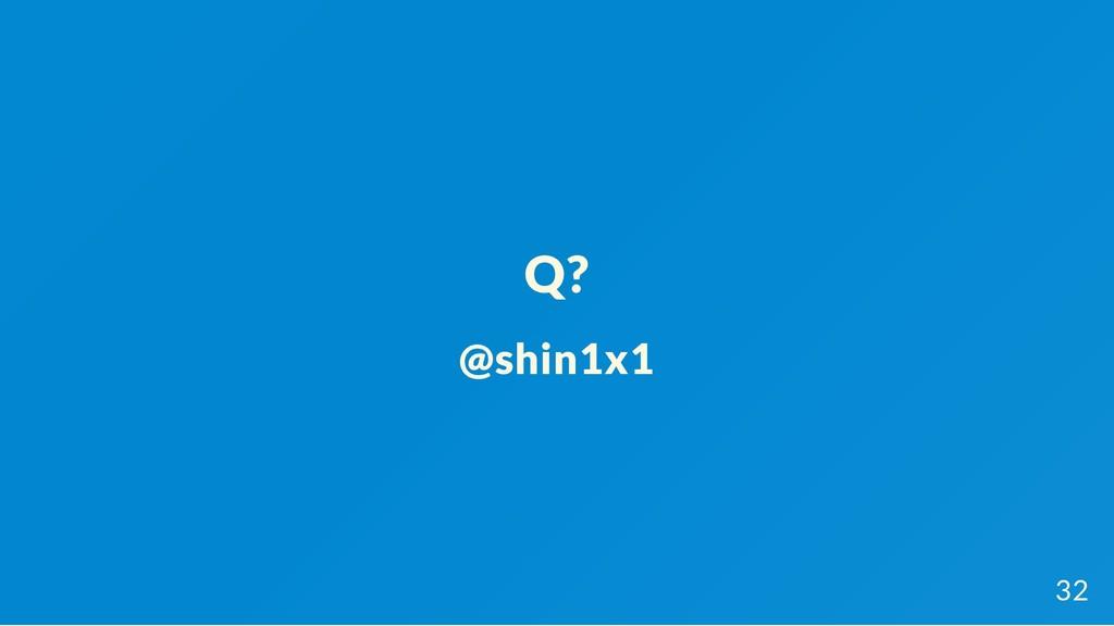 Q? @shin1x1 32