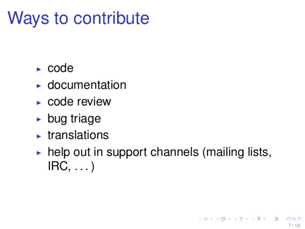Ways to contribute code documentation code revi...