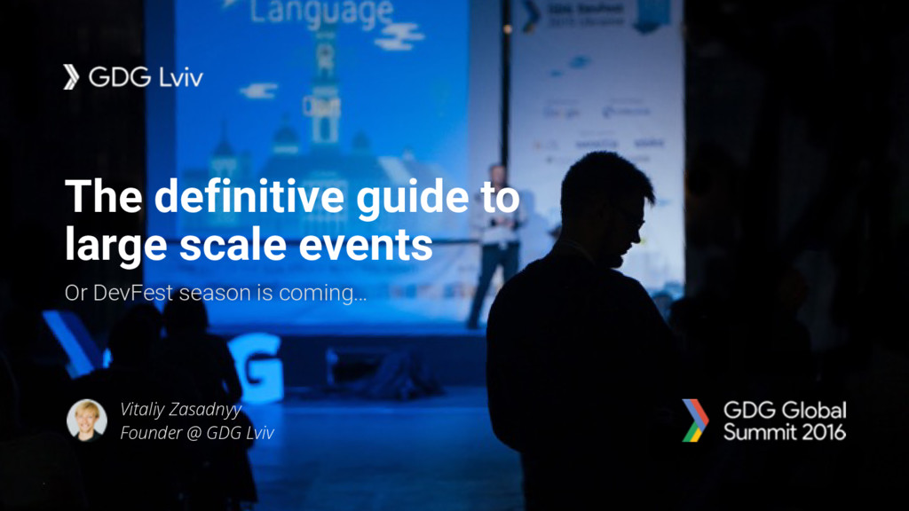 The definitive guide to large scale events Or D...