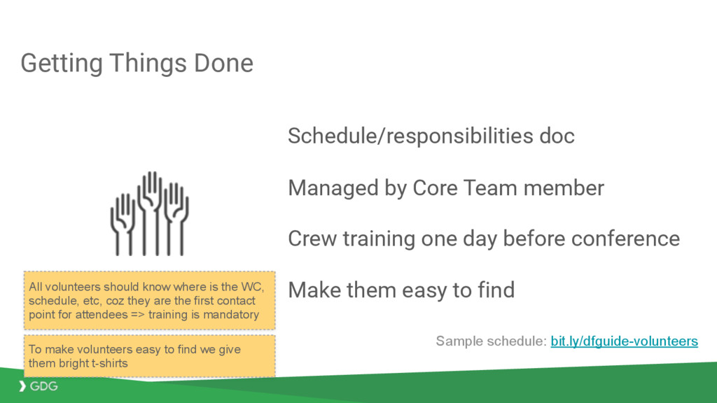 Getting Things Done Schedule/responsibilities d...