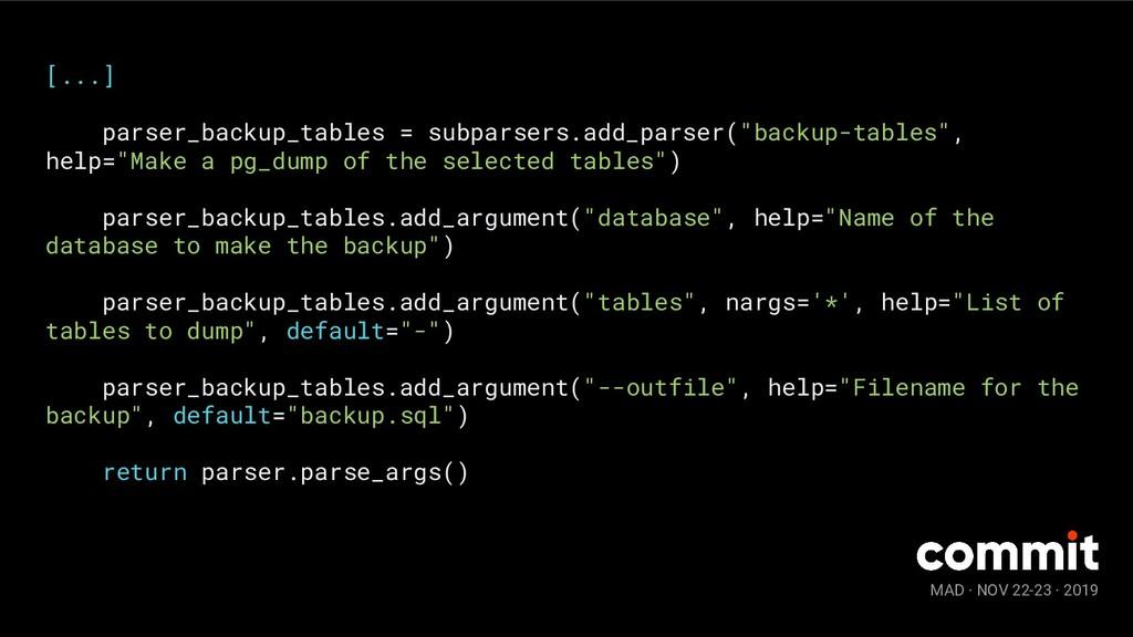 MAD · NOV 22-23 · 2019 [...] parser_backup_tabl...