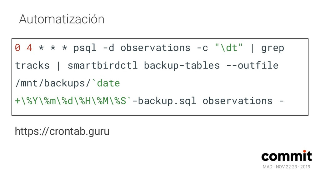 MAD · NOV 22-23 · 2019 Automatización https://c...