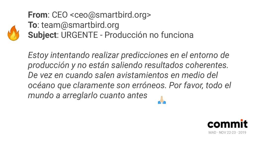 MAD · NOV 22-23 · 2019  From: CEO <ceo@smartbir...