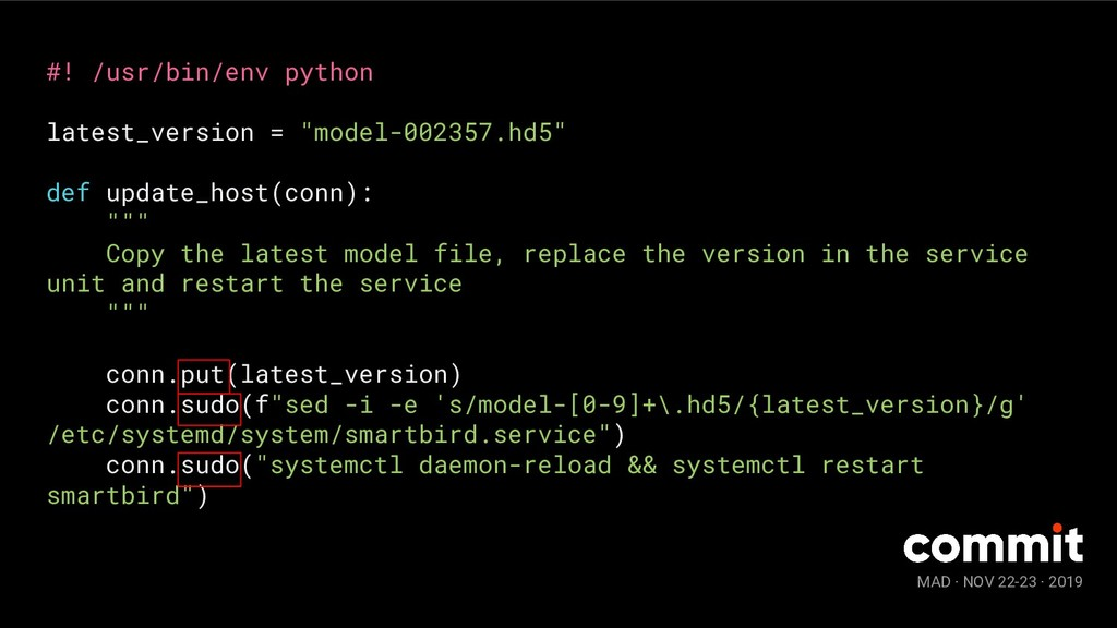 MAD · NOV 22-23 · 2019 #! /usr/bin/env python l...